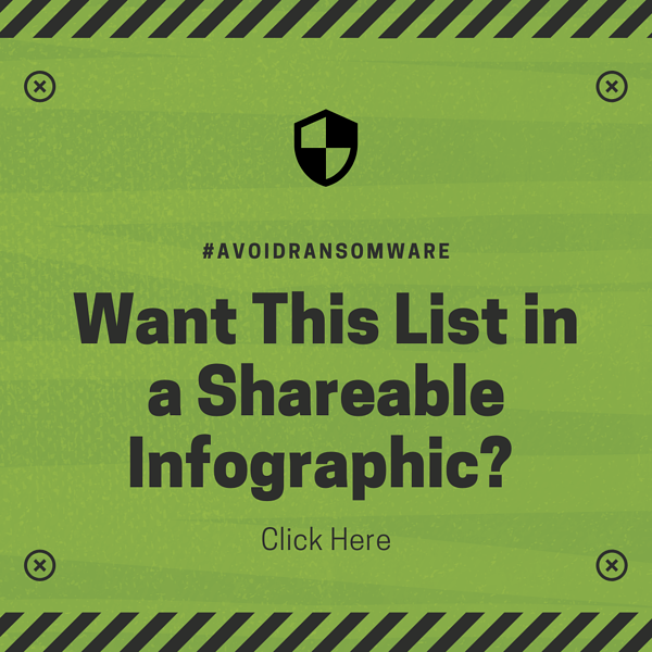 How to Avoid Ransomware Infographic