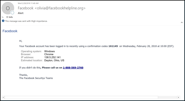 Watch Out for These Fake Social Media Security Emails
