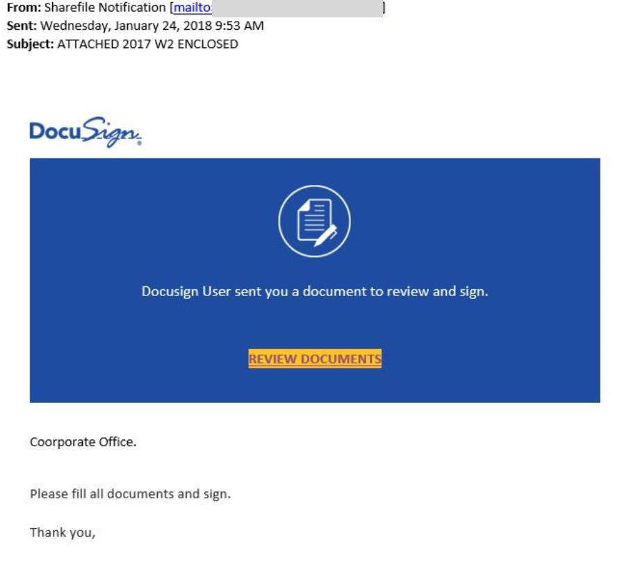 W2 Phishing Email