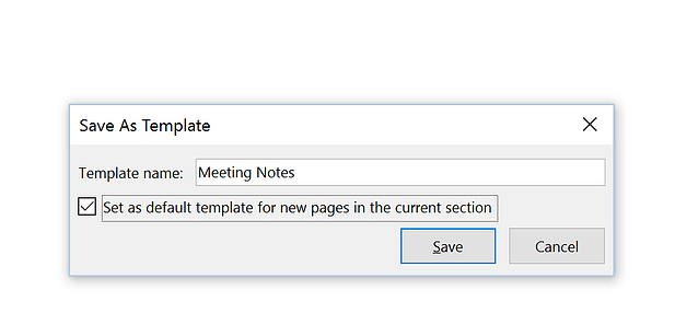 How to improve meeting notes with custom onenote templates onenote template save template defaultg pronofoot35fo Gallery