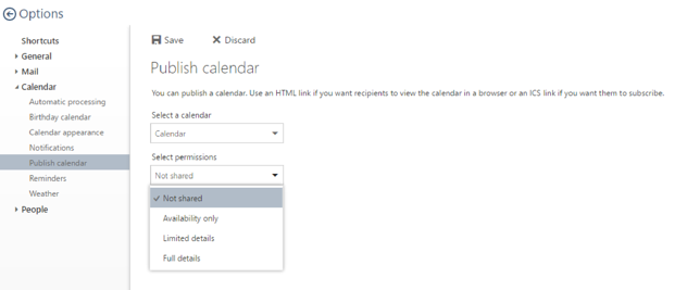 How to Publish Your Outlook Calendar Online