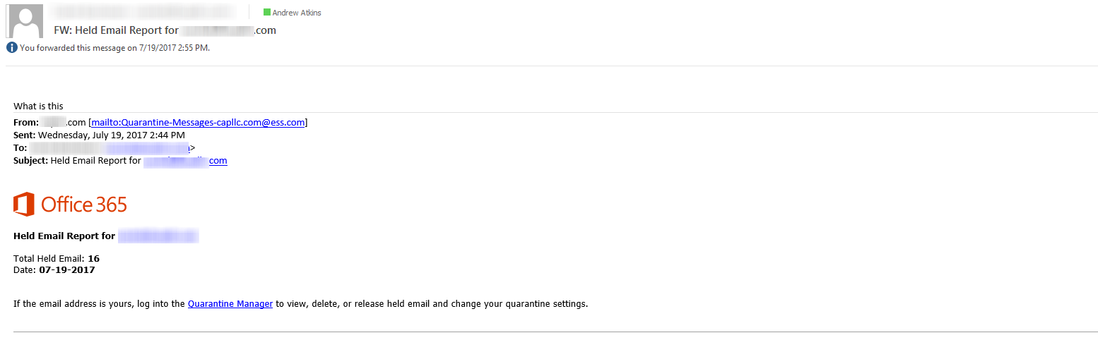 Office 365 Phishing Email