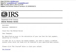 IRS Phishing Email