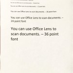 Office Lens Document Scan Results