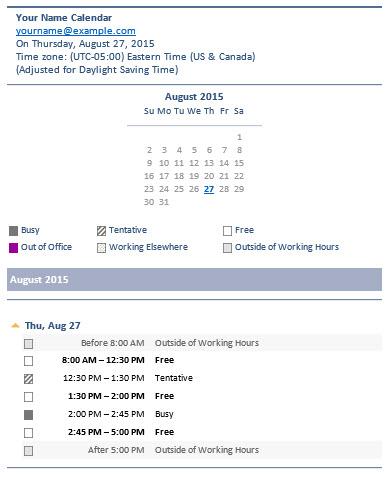 Send Calendar Via Email Message