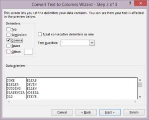 Text to Column Wizard