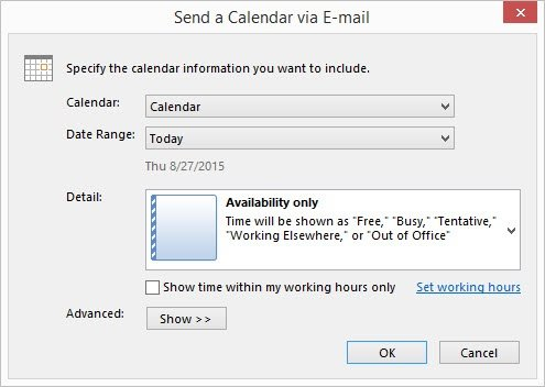 Send Calendar Via Email Box