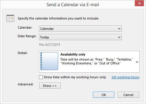 Send Calendar Via Email Box