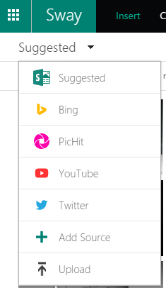 Sway Content Types