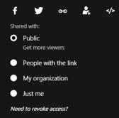 Sway Sharing Options