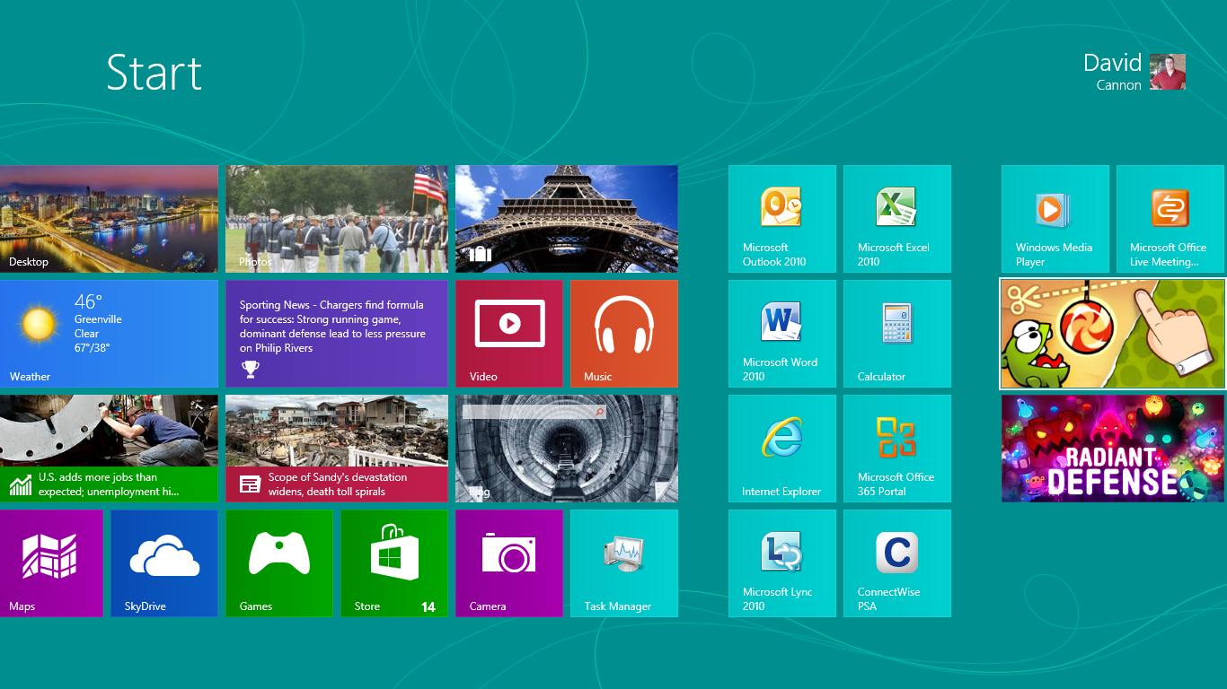 Windows 8 | PTG Outsourced IT Support