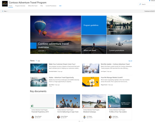Modern SharePoint communication site (2)