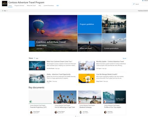 Modern SharePoint communication site (2)