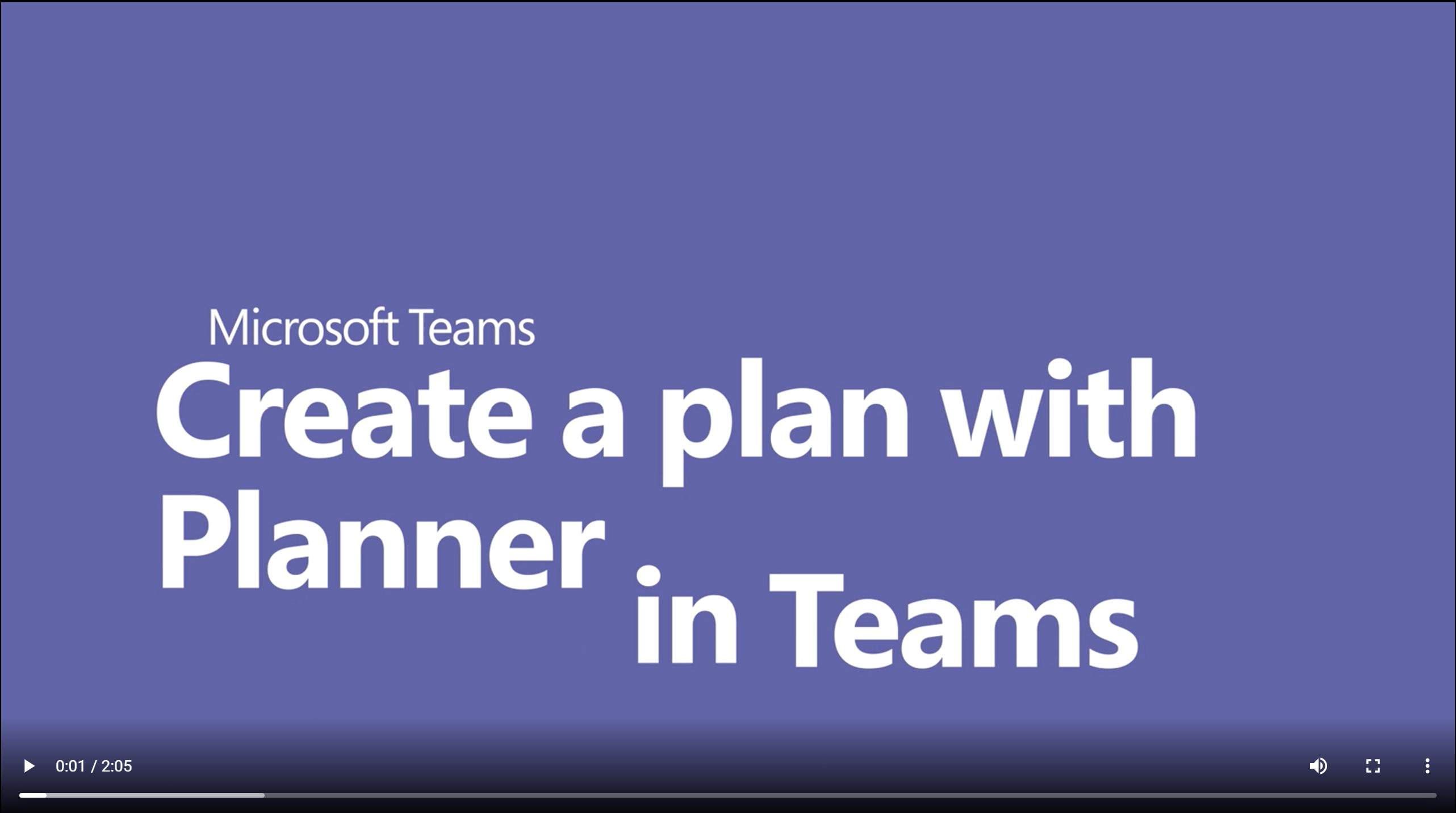 Planner and Teams Video