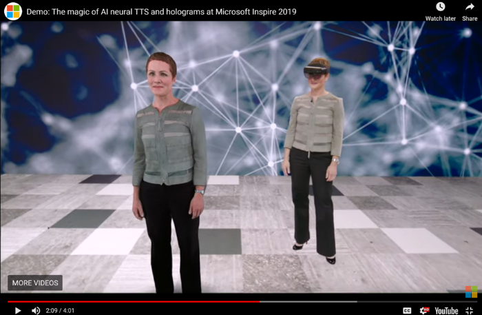 Julia White Holographic Demonstration Microsoft Inspire 2019