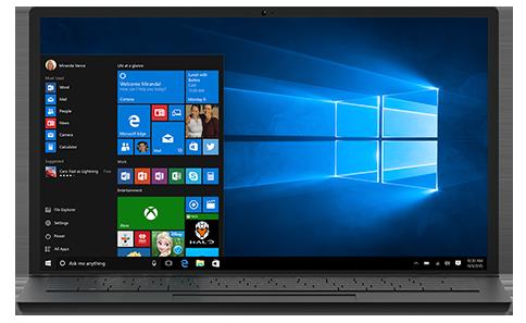 Windows10 laptop view