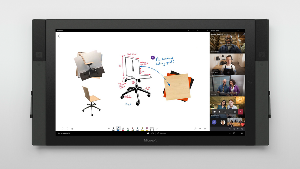 onetouch whiteboard_Teams_meetings