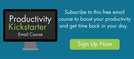 Sign Up for this free email course to boost your productivity and get time back in your day.